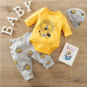 Lion 3 Piece Sweatshirt And Pants